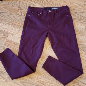 Aero High Waisted JEGGINGS, sz 8, deep Plum